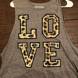 Love cheetah print sleeveless top
